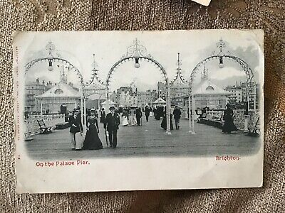 £4.50 • Buy BRIGHTON Pier Entry Early MEZZOTINT Card Posted 1903 POSTCARD 18/5