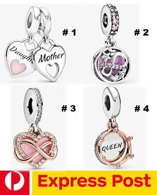 AU41.25 • Buy Pandora Mum & Family Charm♡Mother&Daughter /Infinity Stars/ Hearts /Queen Crown