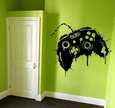 £7.95 • Buy Personalised XBOX Gamer Controller Gaming Boy Kids Wall Sticker Vinyl Decal V830