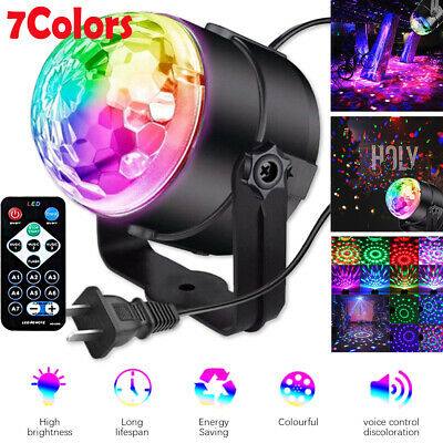 £8.99 • Buy 7Colors Disco DJ Party Club RGB Stage Light Crystal Ball Effect Rotating LED