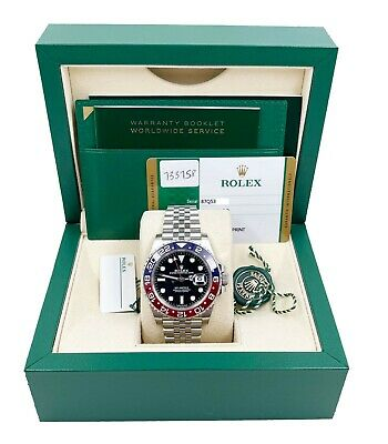 $ CDN26762.34 • Buy Rolex GMT Master II Pepsi Red Blue 126710BLRO Stainless Steel Box Papers 2019