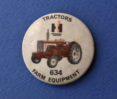 £9.95 • Buy Vintage International Harvester 634 Tractor Tin Pin Badge Farming Agriculture