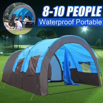 AU149.89 • Buy AU 8-10 People Large Waterproof Travel Camping Hiking Double Layer Outdoor Tent