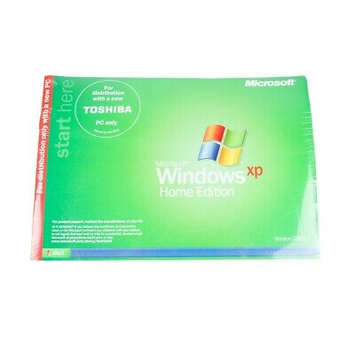 £26.58 • Buy *New Sealed* Microsoft Windows XP Home Edition For Toshiba PC