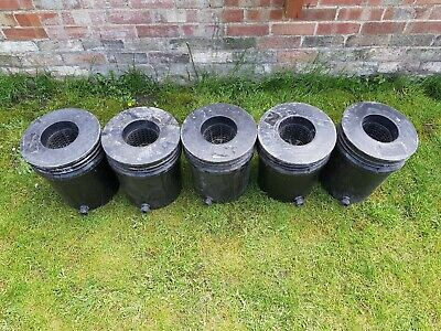 £39.99 • Buy 5x Oxypot Oxy Pots Inner And Outer Deep Water Culture Flood Drain Hydroponics