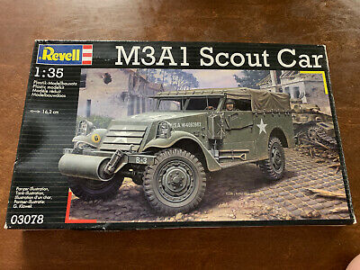 $30 • Buy Revell 1:35 M3A1 Scout Car Military Kit #03078 Used