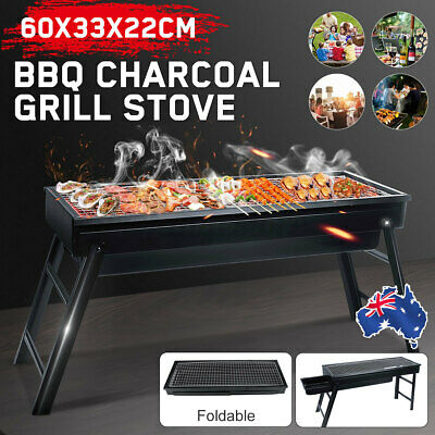 AU22.99 • Buy Foldable Portable BBQ Charcoal Grill Stove Barbecue Camping Hibachi Picnic