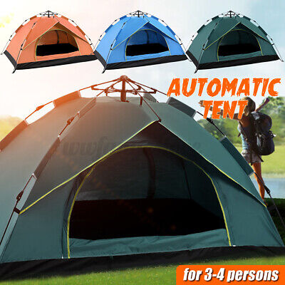 AU49.99 • Buy Camping Tent Waterproof Automatic Quick Open Camping Tent Outdoor 3-4 Persons AU