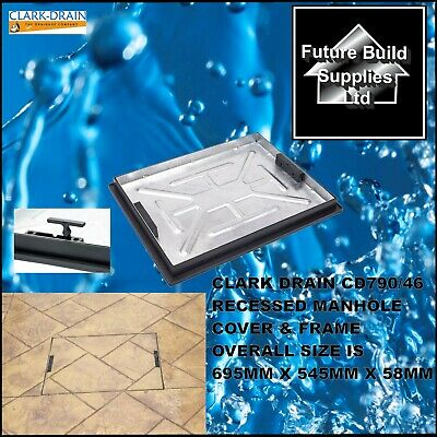 £52 • Buy CLARK DRAIN  CD790R/46 RECESSED MANHOLE COVER & FRAME 600mmx450mmx46mm