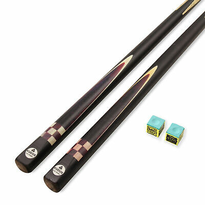 £22.95 • Buy Kudos 42 Inch PAIR CHECKERS One Piece Decal Junior Snooker Pool Cue - 9.5mm Tip