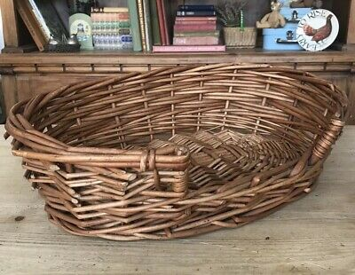 £26.95 • Buy Vintage Very S Hand Woven Traditional Wicker Cane Kitten Puppy Pet Basket Bed