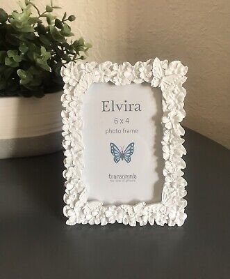 """£8.99 • Buy Brand New Resin Butterflies & Flowers Photo Frame 6"""" X 4"""" - Post Next Day"""