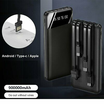 AU26.99 • Buy 2021 New 900000mAh LCD Power Bank Portable USB Type-C External Battery Charger