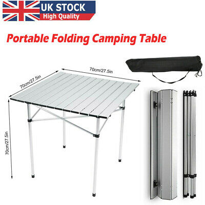 £22.88 • Buy Portable Aluminum Camping Folding Table Roll Up Indoor Picnic Light Weight
