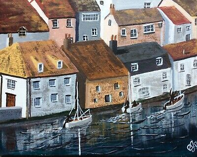 £11 • Buy Original Painting Of Polperro, Cornwall In Acrylic On Stretched Canvas