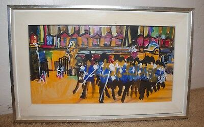 $ CDN283.24 • Buy Colorful Impressionist Painting Marching Band - California Artist Esther Miller
