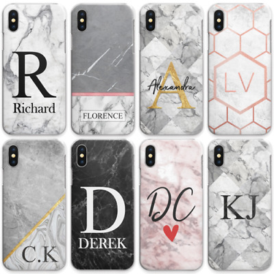 AU15.34 • Buy Personalised Initials Phone Case, Marble Hard Cover For Oppo Nokia 6 Oneplu6 6