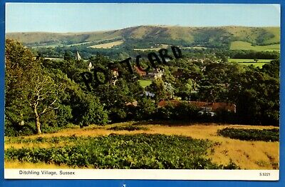 £0.99 • Buy Rp Postcard Aerial View Ditchling Sussex Nr Hassocks Lewes Falmer Burgess Hill