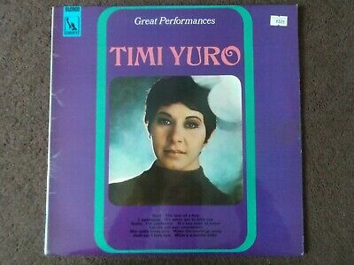 £10 • Buy Timi Yuro Great Performances Signed Cover Excellent Condition Lbs 83115 1968