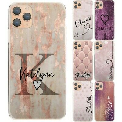 AU13.28 • Buy Personalised Phone Case For Xiaomi/Oppo, Initial Pink Flower Hard Phone Cover