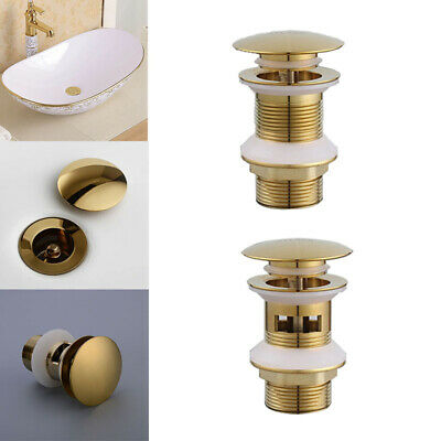 £9.29 • Buy Basin Waste Sink Pop Up Push Button Click Clack Plug Slotted Brass Bathroom