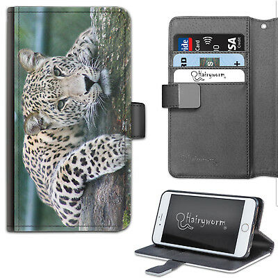 AU26.30 • Buy Cat Leopard Phone Case, PU Leather Side Flip Phone Cover For Apple/Samsung
