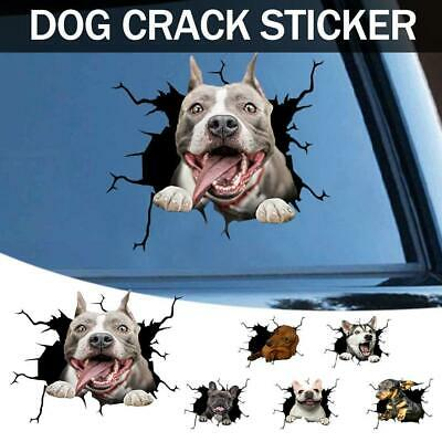 £2.89 • Buy 3D Car Window Crack Decal Funny Dogs Lover Sticker Husky Dogs 8 X 11