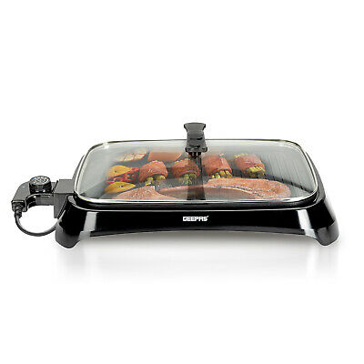 £37.99 • Buy Geepas 1600W Electric Barbecue Grill Hot Plate Smokeless Indoor Outdoor BBQ