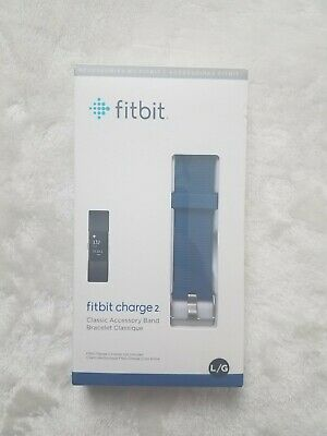 $ CDN19 • Buy Genuine OEM Fitbit Charge 2 Classic Accessory Band - Blue - Large - New & Sealed