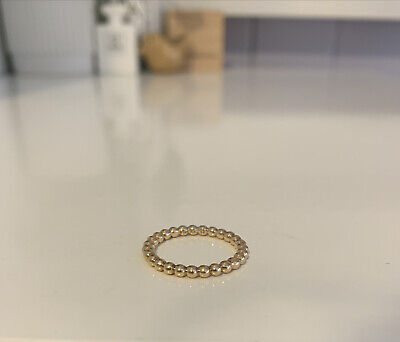 AU250 • Buy 🍂 Authentic Pandora 14k 585 Solid Yellow Gold Bubble Ring Size 50 Retired