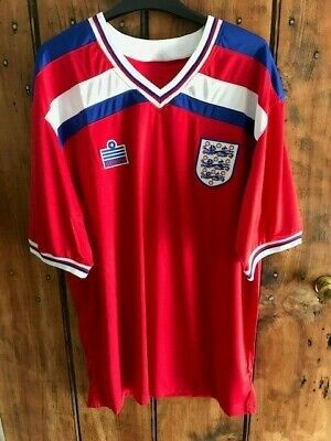 £34 • Buy England Admiral Football Shirt, Red Away Shirt, 1982 World Cup, Brand New, Large