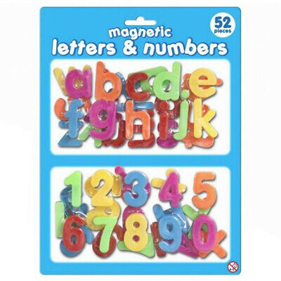 £3.75 • Buy Magnetic Letter And Numbers - Learning Fridge Magnets For Children - 52 Pieces