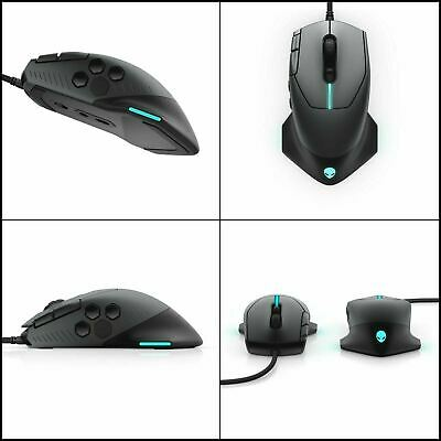 $45 • Buy USED ALIENWARE AW510M 16, 000 DPI Optical Sensor Alienfx RGB 10 Buttons Scroll