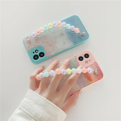 AU13.19 • Buy For IPhone 12 11 Pro Max XS 7 8+ Watercolor Marble Bracelet Wristband Phone Case