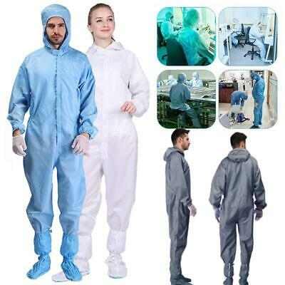 $22.49 • Buy Anti-static Laboratory Hooded Suit Clothing Safety Coverall Clean Room Washable