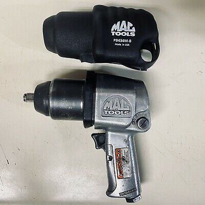 """$79.99 • Buy Mac Tools Pnuematuc 1/2"""" Impact Wrench AW434B W/ Cover A-x"""