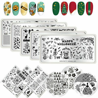 AU2.79 • Buy BORN PRETTY Nail Art Stamping Plates Image Stamp Stencils Templates Flowers Tool