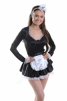 £8.99 • Buy Womens Ladies Sexy French Maid Costume Hen Do Fancy Dress Party 6 8 10 12 14