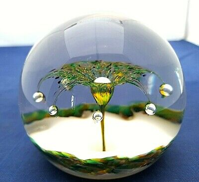 £59.99 • Buy Selkirk Glass Paperweight With Label Dated 1999 Excellent Condition