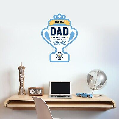 £17.99 • Buy Manchester City Best Dad Trophy Wall Sticker Football Decal Father's Day Gift