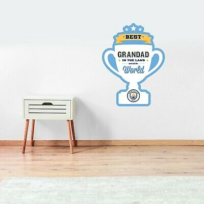 £17.99 • Buy Manchester City Best Grandad Trophy Wall Sticker Football Decal Fathers Day Gift