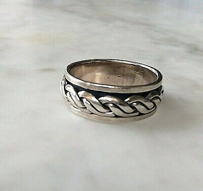 £29.50 • Buy Ring Sterling Silver Spinning Ring Stacking   Size S   (1999J)