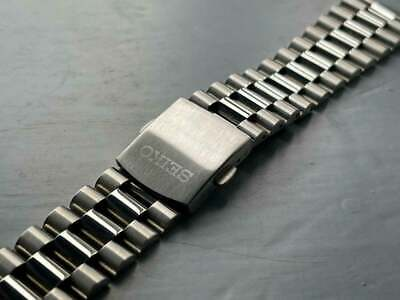 £20 • Buy Seiko 22MM STAINLESS STEEL Straight Ends Gents Watch Strap/ Band For Seiko New