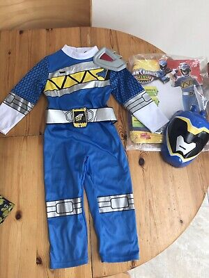 £32.95 • Buy Blue Power Rangers Dino Charge Costume Age 3-4 Years With Mask Dress Up