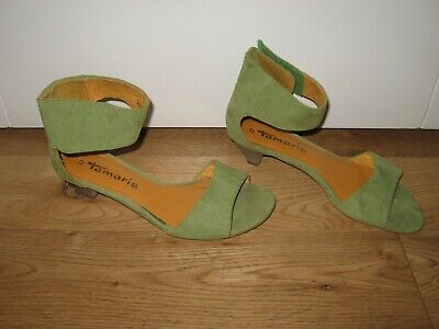 £14 • Buy Tamaris Green Faux Suede Synthetic Open Shoes+4/37+vgc