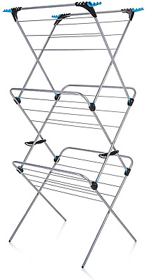 £32.74 • Buy Minky 3 Tier Plus Indoor Airer With 21 M Drying Space, Silver