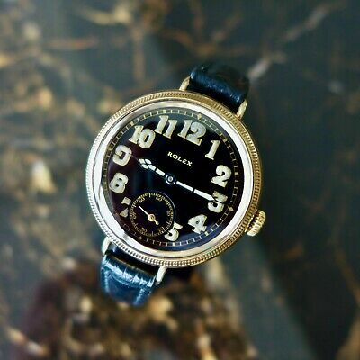 £3450 • Buy A Rare Vintage 1917 Ww1 Gold Gents British Military Rolex Trench Officers Watch