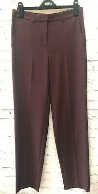 £9.99 • Buy  Ex M&S 'Pablo' Straight Leg Trousers Chocolate Brown Sizes 8-24 *NEW* (67)