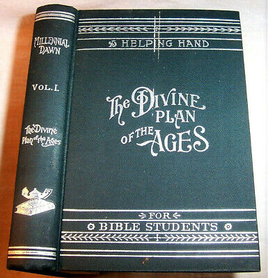 $95 • Buy 1904 Millennial Dawn DIVINE PLAN OF AGES  Watch Tower Jehovah Kingdom C. Russell
