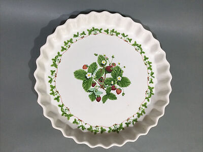 """£24.95 • Buy Portmeirion Pottery """" Summer Strawberry """" Quiche / Flan Dish"""